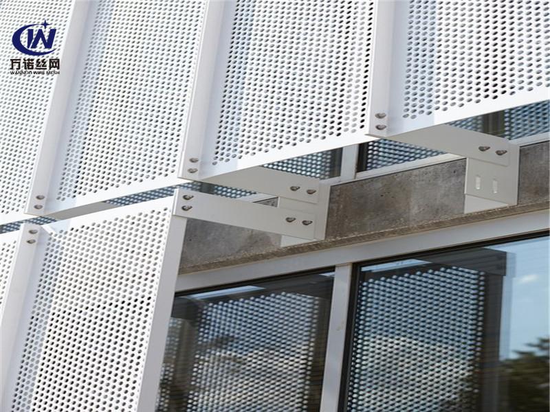 河北铝板镀锌板冲孔外墙装饰板--安平县万诺丝网