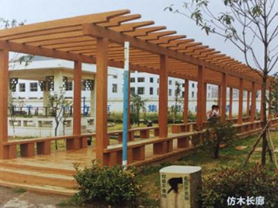 固原仿木長廊定製|劃算的仿木長廊哪裏有賣