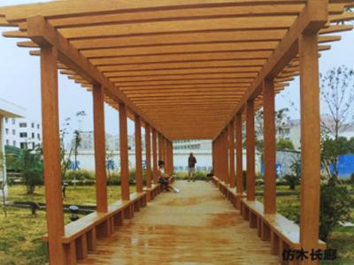 石嘴山地区不错的仿木长廊-中卫仿木长廊安装