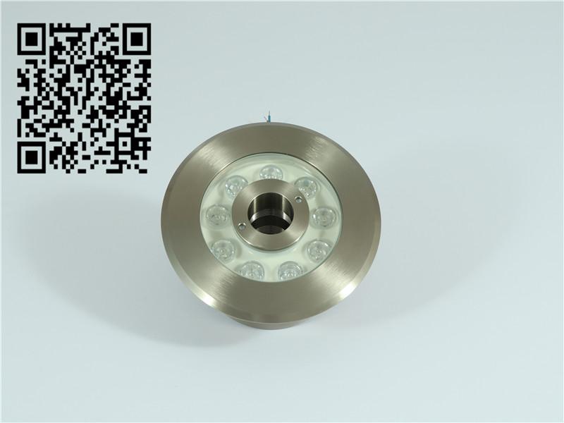 不锈钢水底灯6W9W喷泉灯12v水下射灯单色彩色水底灯