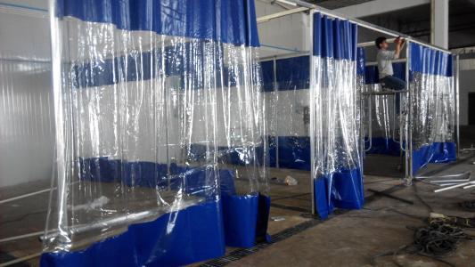 周至洗车房推拉帘安装-在哪能买到实惠的西安防水洗车帘