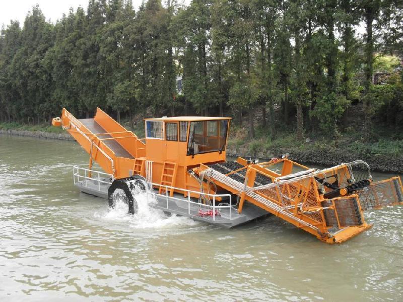 瀚洁环保供应厂家直销的割草船——甘肃大型割草船