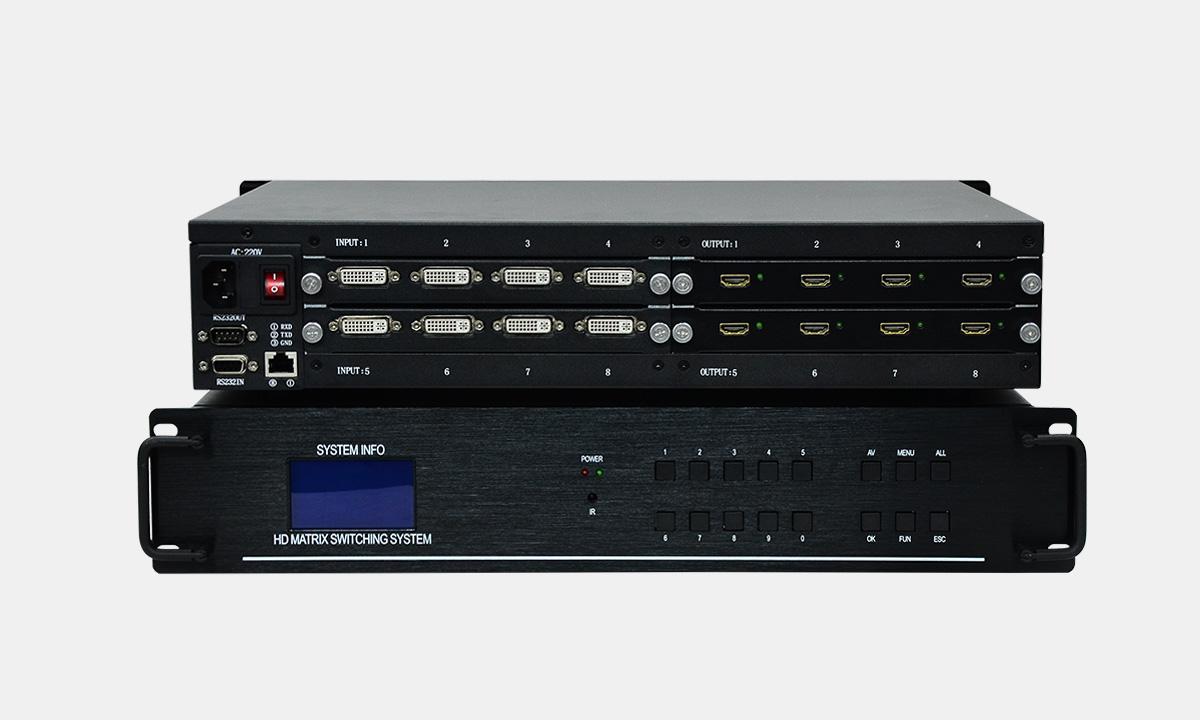外贸无缝切换矩阵,实惠的HDMI8进8出无缝切换矩阵厂家直销