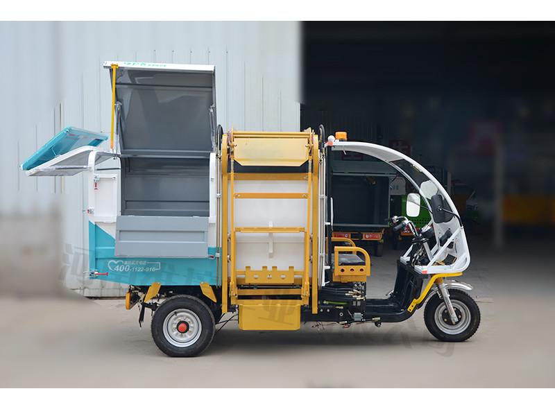 密闭式翻桶车厂家,许昌耐用的电动三轮翻桶车批售