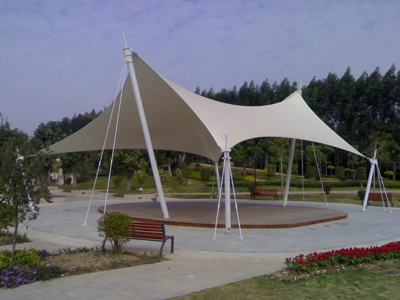 膜结构广场景观蓬-造型柔美的多用途膜结构
