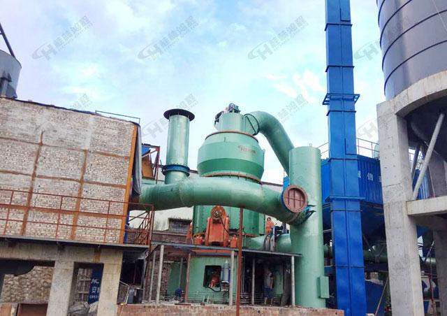 国产立式磨粉机锰渣、碳酸锰制粉粉碎机 桂林鸿程立磨