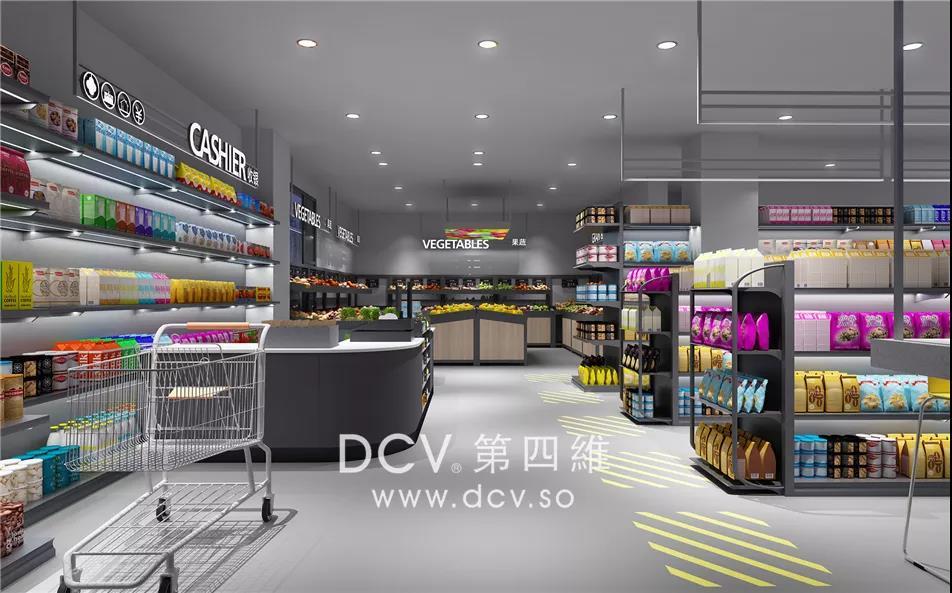 西安 - 宅刻便利(时尚互联网)超市室内外装修设计