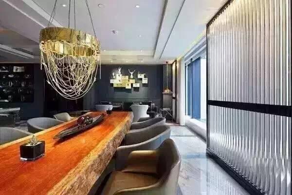 原木老板桌办公桌椅奥坎黄花梨巴花新中式家具实木大板桌茶桌茶台