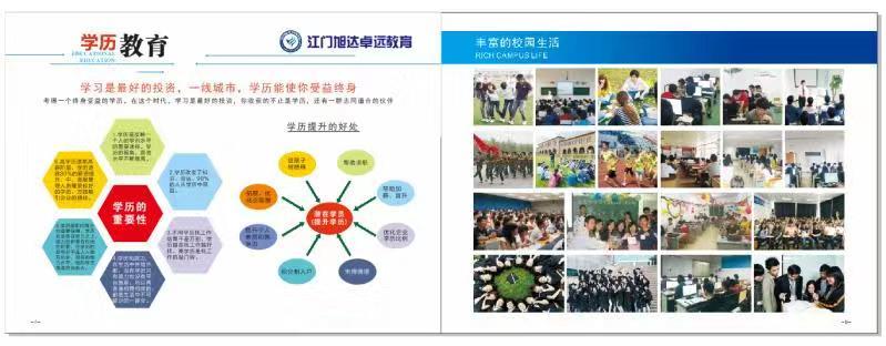 江门旭达卓远教育提供信誉好正规的学历培训中心