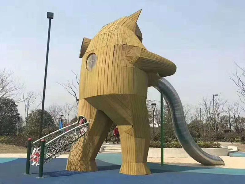成都不锈钢滑梯-新品木质游乐设施就在如泰游乐设备