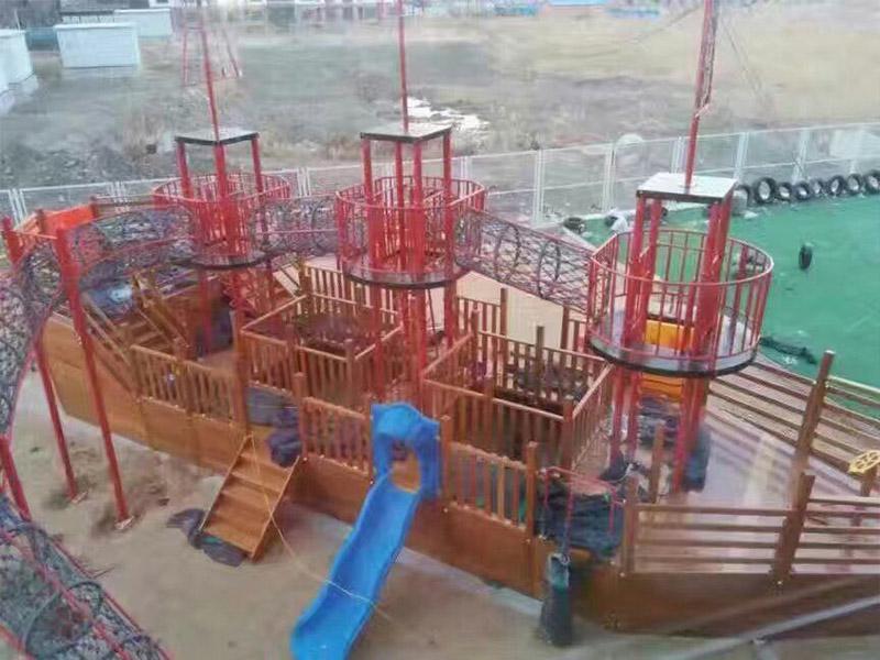内蒙大型游乐场设备-新潮的木质游乐设施就在如泰游乐设备