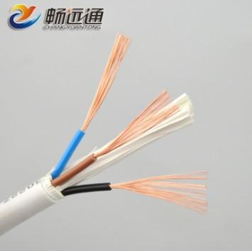 电线电缆 rvv3*1平方白色家装铜芯软护套 国标护导线