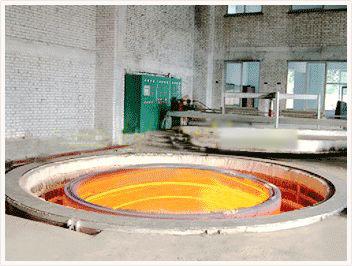 镇江风电环件热处理炉哪里买,井式环件加热炉