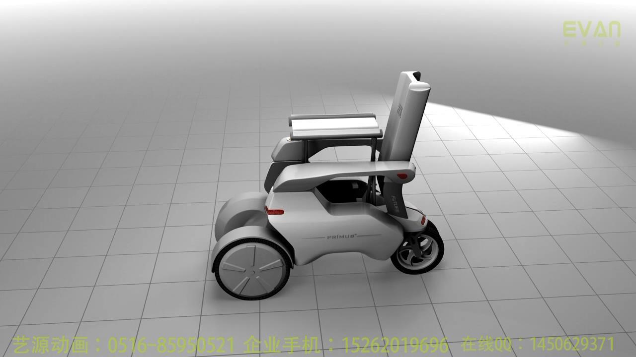 三维产品动画制作智能轮椅-艺源案例-深圳若木