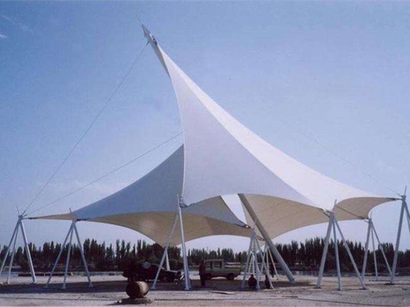 造型柔美的商丘膜結構-南京膜結構廠家
