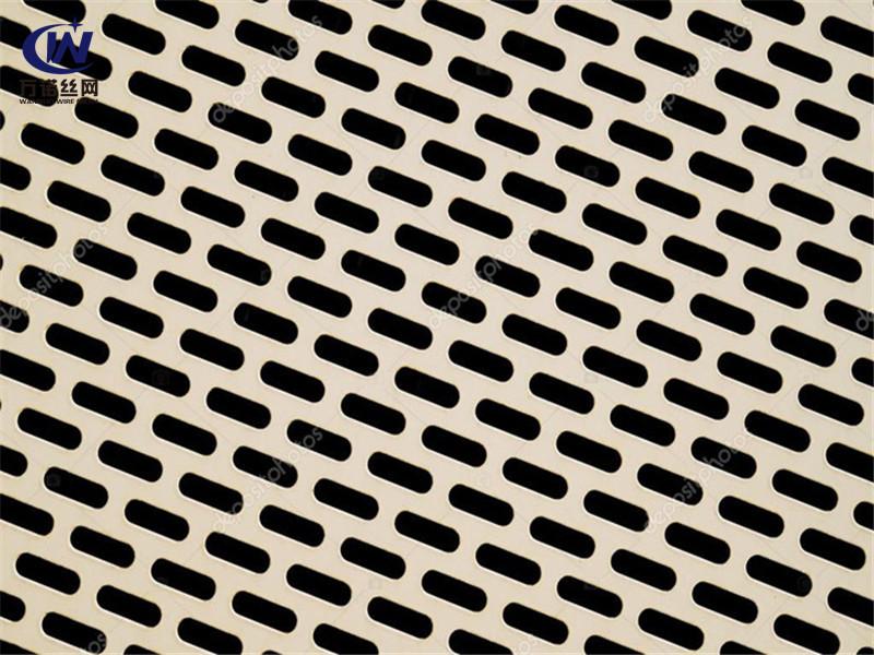 镀锌板长条孔筛分过滤冲孔筛板--安平县万诺丝网