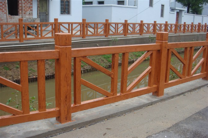 兴平仿木围栏厂家-西安哪有供应口碑好的咸阳仿木栏杆