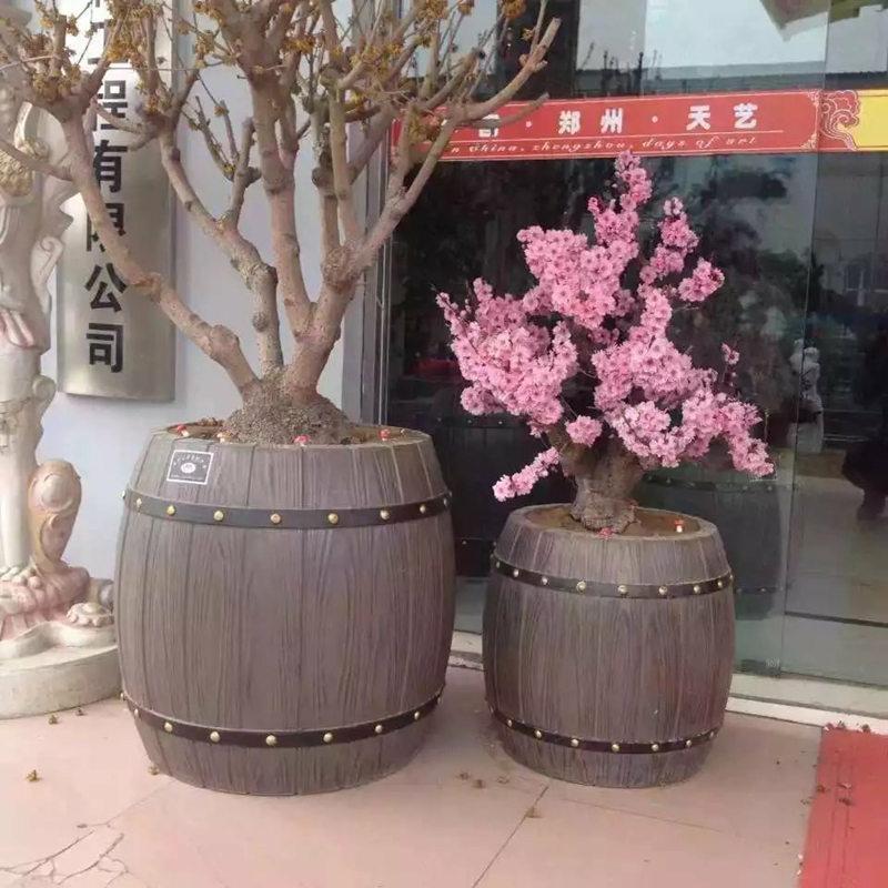 仿木水泥花箱品牌-大量供应销量好的商洛仿木花箱