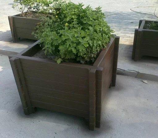 橫山仿木花箱定做-供應榆林有品質的榆林仿木水泥花箱