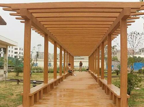 商洛園林桌椅哪家好|哪里有提供商洛仿木廊架