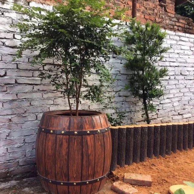 西安仿木水泥花箱批发|西安口碑好的西安仿木花箱供应