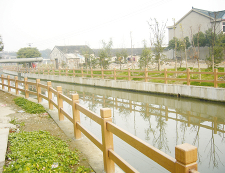 安康仿石水泥护栏哪家好-安康毅力景观可靠的安康仿木围栏销售商