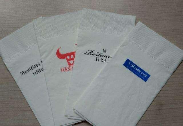 成都企业原生木浆餐巾纸定制LOGO~330mm餐巾纸散装批发