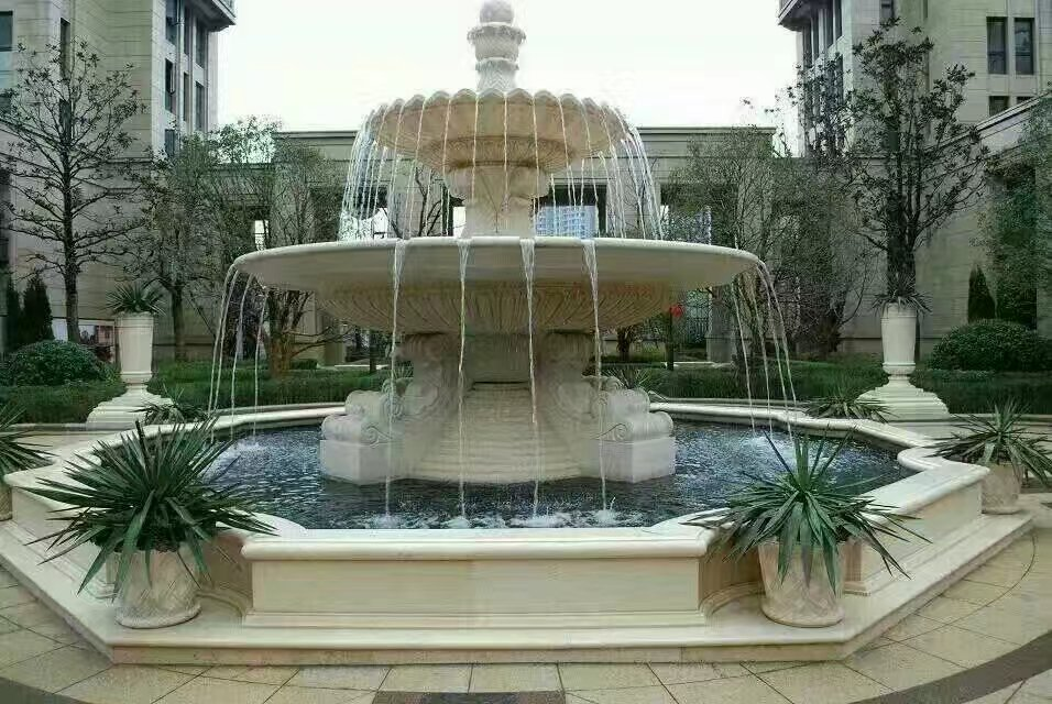 喷泉雕塑供应|技艺精巧的河北石雕喷泉