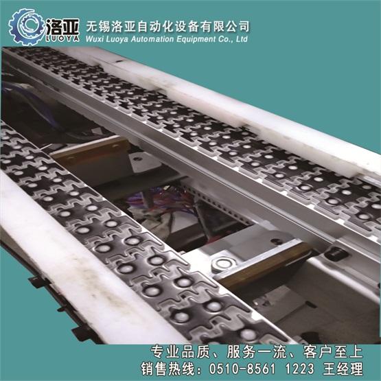 无锡洛亚生产优质双排金属耐高温特氟龙积放式链板机链板输送机
