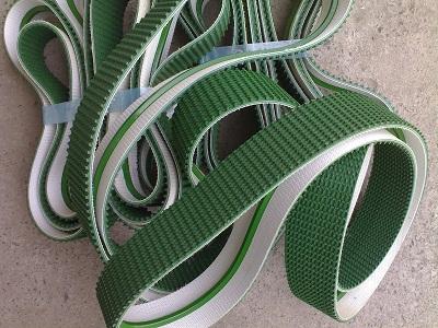 PVC绿色草带花纹皮带