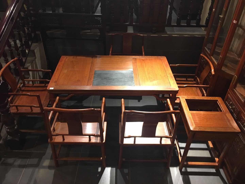 出口红木茶桌-品质红木茶桌现货供应