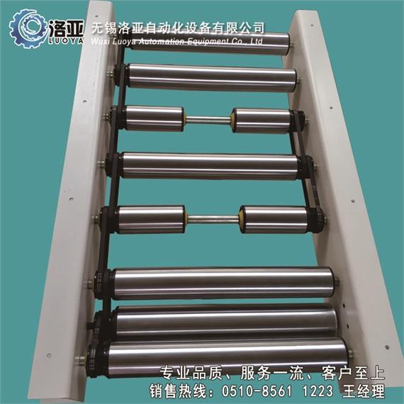 无锡洛亚生产优质多楔带轮非标滚筒输送机替代电机驱动分段辊筒