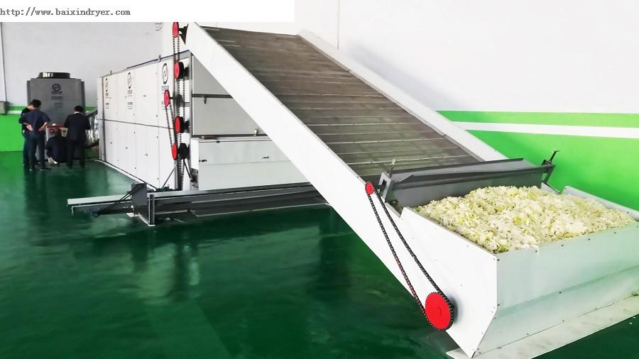 优质粮食烘干机  河南百信多层连续式网带粮食烘干设备