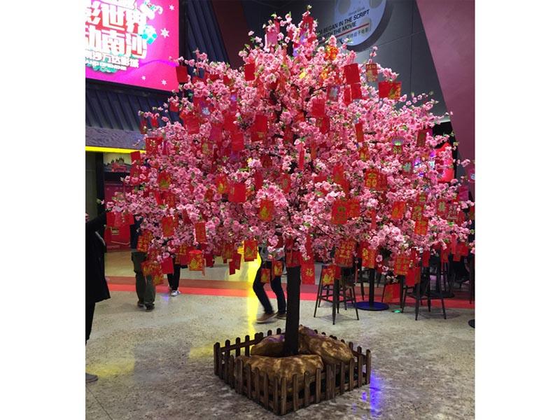 商业街桃花仿真树|广州市盛庭出售划算的仿真桃花树