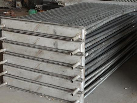 不锈钢翅片蒸汽散热器木材大棚空气热交换器
