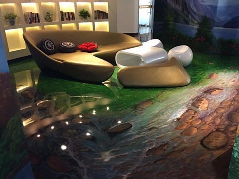 复古泼墨3D艺术地坪价格-优惠的复古泼墨3D艺术地坪郝伟地坪工程供应