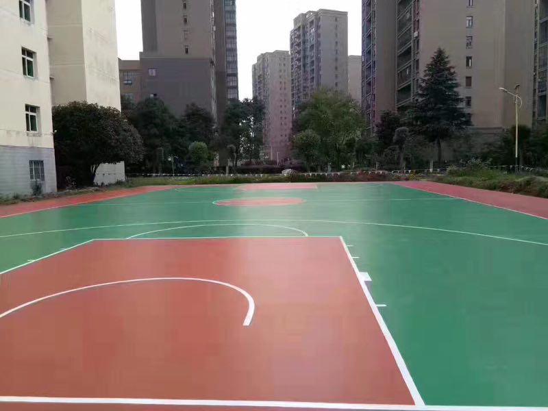 硅PU球场塑胶跑道地坪