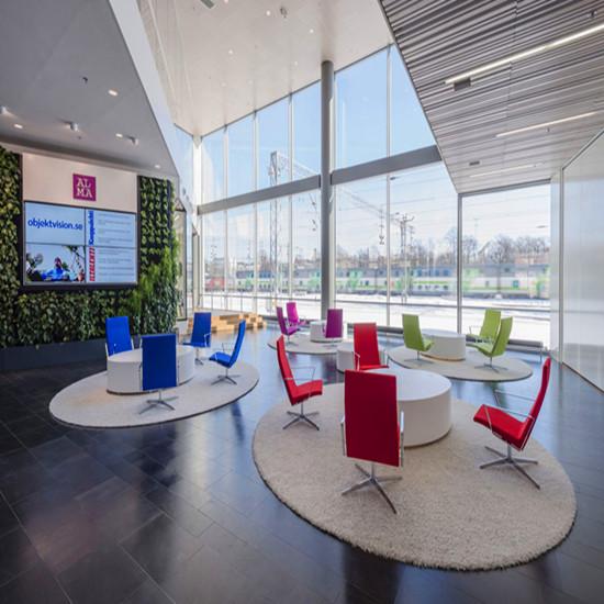 艾迈斯传媒公司办公室装修,公司洽谈区设计让你的谈判事半功倍