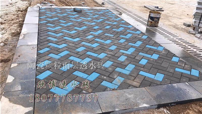 广西陶瓷颗粒面透水砖,南宁陶瓷颗粒面透水砖,广西生态透水砖