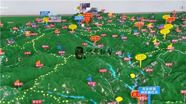 地形地貌模型,广西地形沙盘模型制作