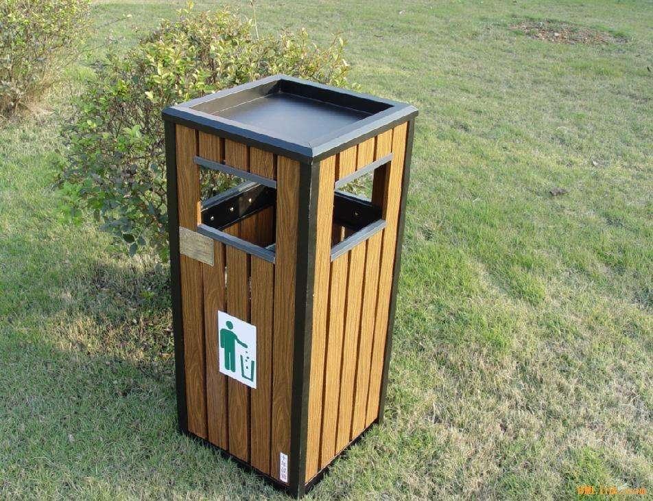 宁夏太阳能广告灯箱定制-供应西安划算的中卫垃圾桶