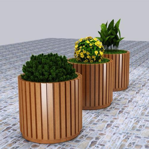 银川护栏隔离花箱价格_大量出售陕西优良的塑木花箱