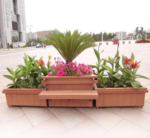 银川木纹转印花箱多少钱-高性价塑木花箱尽在志诚塑木