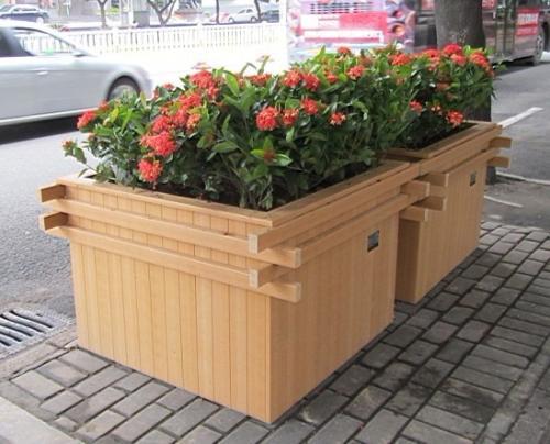 宁夏铝合金花箱多少钱-陕西哪里供应的固原木塑花箱优良