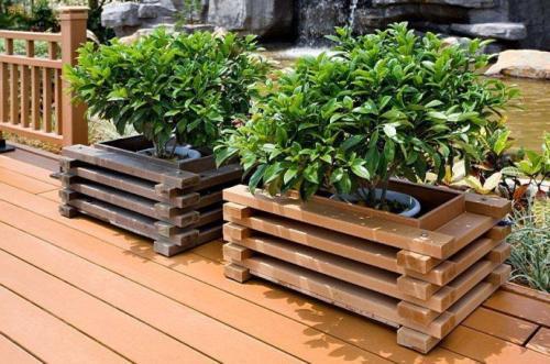 西安铝合金花箱定制-供应西安新品固原木塑花箱