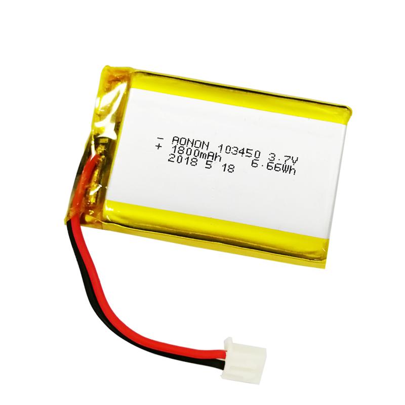 103450-1800mAh 3.7V聚合物锂电池
