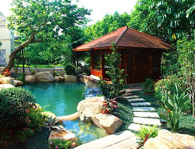 易种植的园林景观工程|口碑好的别墅园林景观出售