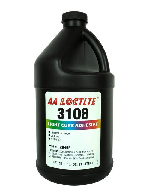乐泰3108紫外线固化无影胶水3108UV胶金属玻璃胶