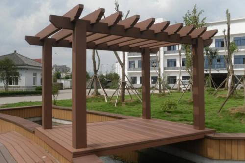 西安塑木廊架|來志誠木塑,買劃算的西安塑木護欄