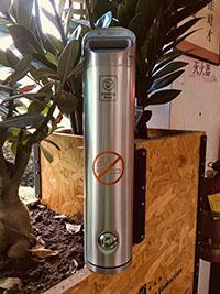西安烟头收集器价格-志诚塑木提供划算的榆林灭烟柱